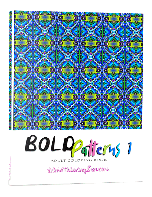 Bold Patterns #1 coloring book