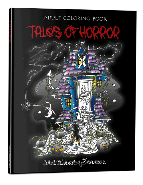 Tales of Horror coloring book