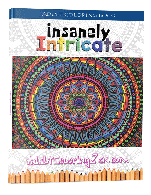 Insanely Intricate coloring book