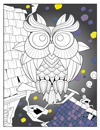October planner journal coloring page