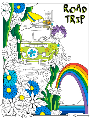 January 2020 planner journal coloring page