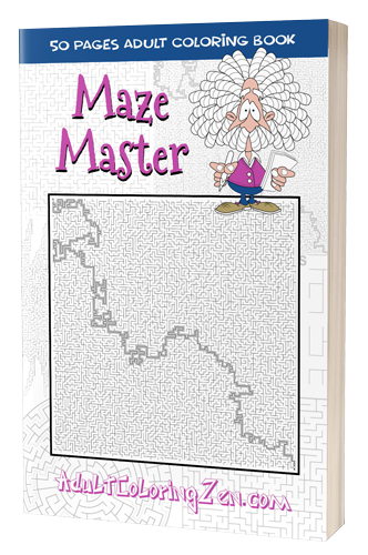 Maze Master printable activity book of mazes