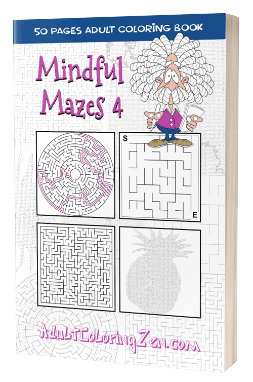 Mindful Mazes 4 - printable activity book of mazes