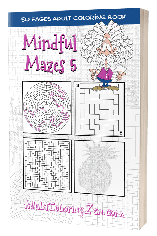 Mindful Mazes 5 - printable activity book of mazes