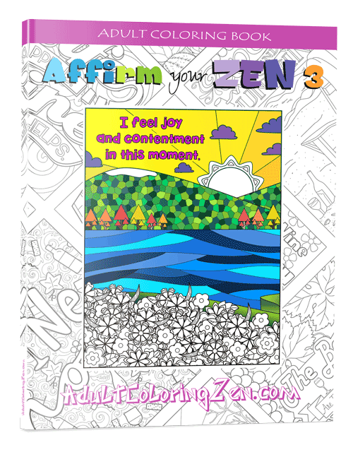 Affirm Your Zen #3 adult coloring book
