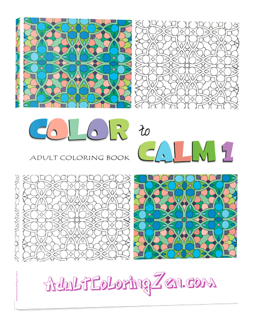 Color to Calm #1 coloring book