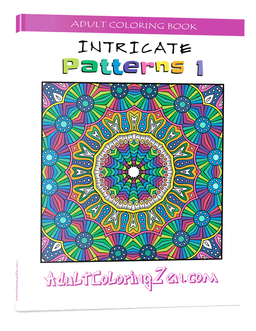Intricate Patterns #1 adult coloring book